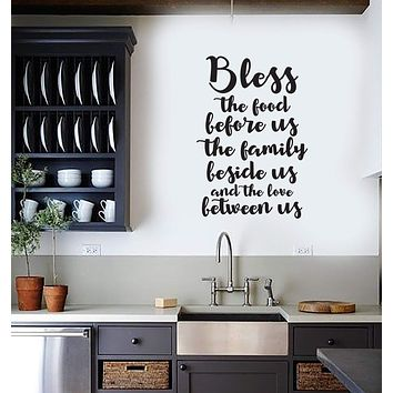Vinyl Wall Decal Food Quote Saying Dining Room Kitchen Interior Art Stickers Mural (ig5764)