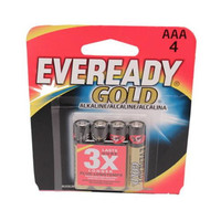 Eveready Gold AAA Batteries - Per 4