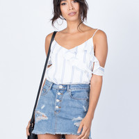 City Daze Ruffled Top