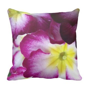 Pink And Purple Flower Design Pillow