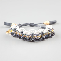 Rose Gonzales Naomi Braclet Black/White One Size For Women 24176212501