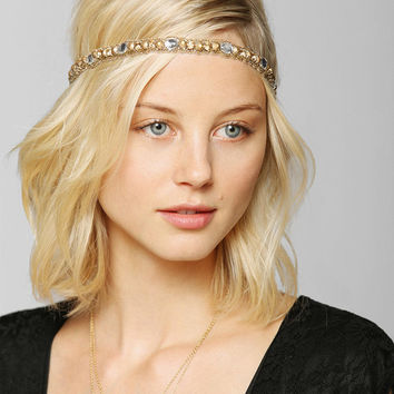 Deepa Gurnani Gold Stud Strappy Headwrap - Urban Outfitters