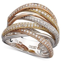 Trio by EFFY Diamond Diamond Overlap (3/4 ct. t.w.) in 14k White Gold and Rose Gold