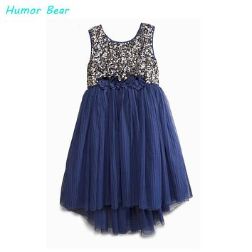 Humor Bear 2016 casual dress fashion girl's sequin vest dresses baby girls dress kids brand girls party princess dresses
