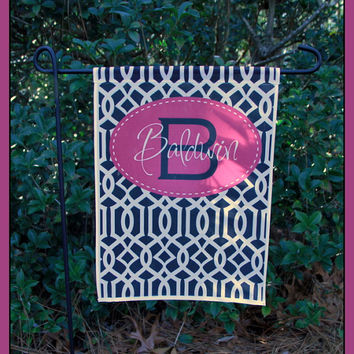 Garden Flag Monogrammed Personalized Outdoor Garden Decor Yard Garden Gift Mother's Day Housewarming Hostess