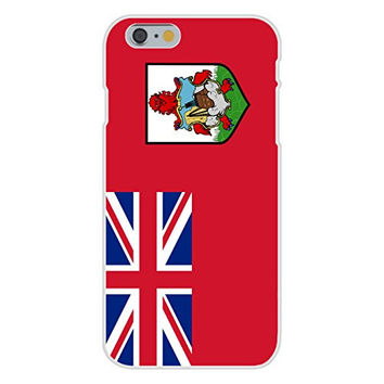 Apple iPhone 6 Custom Case White Plastic Snap On - Bermuda - World Country National Flags