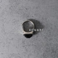 Mens Black Onix Gemstone Ring at Farixquare