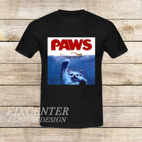 Jaws is Paws Balck on T shirt