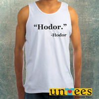 Hodor Game of Thrones Clothing Tank Top For Mens