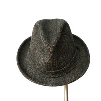 Pendleton Fedora Wool Fedora Wool Hat Grey Tweed Hat Mens Wool Fedora 1980s Sz 7 1/4
