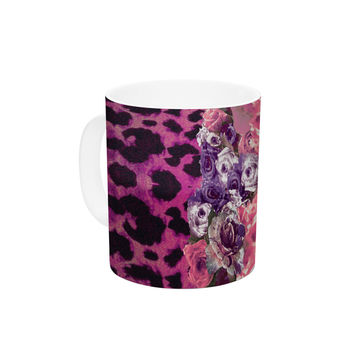"Nina May ""Rose Stripe"" Ceramic Coffee Mug"