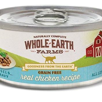 Whole Earth Chicken Can Cat Food 24/2.75oz