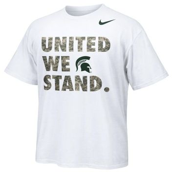 Nike Michigan State Spartans Basketball Carrier Classic United We Stand T-Shirt