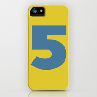 Number 5 iPhone & iPod Case by Project M