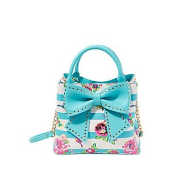WELCOME TO THE BIG BOW BUCKET BAG: Betsey Johnson