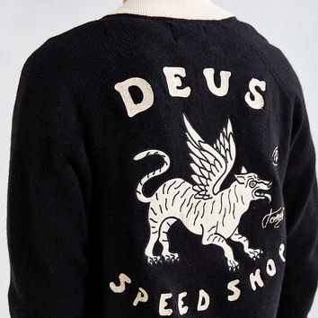 Deus Ex Machina Wings Lambswool Bomber Sweater - Urban Outfitters
