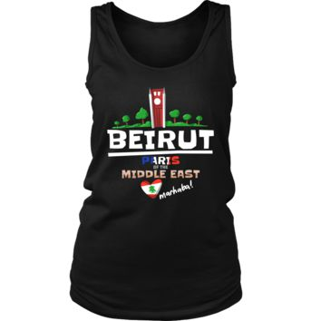 Beirut Paris of the Middle East Love Lebanon Country Women's Tank