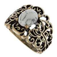 Swirl Filigree Semi Precious Ring - Jewellery  - Accessories  - Topshop