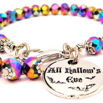 Multi Crystal All Hallows Eve Splash Of Color Crystal Bracelet