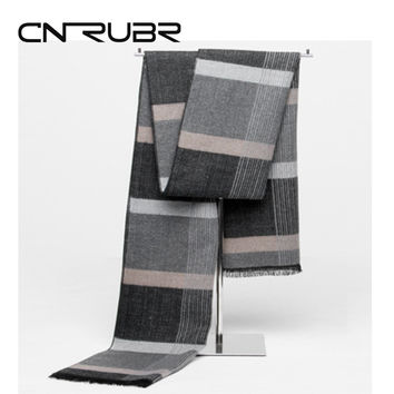 2016 Korean Fashion Shawl Europe Scarves Men New Winter Warm Cashmere Scarf Business Leisure Tartan Shawl Plaid Modal Wraps