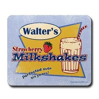 Walter's Strawberry Milkshake Mousepad from GritFX T-Shirts at Other Peoples T-Shirts | See t-shirts other people are creating & wearing.