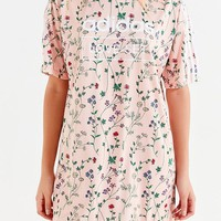 adidas Originals Floral Tee Dress | Urban Outfitters