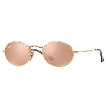 Ray Ban RB3547N 001/Z2 48 48mm Rose Gold Copper Flash Mirror