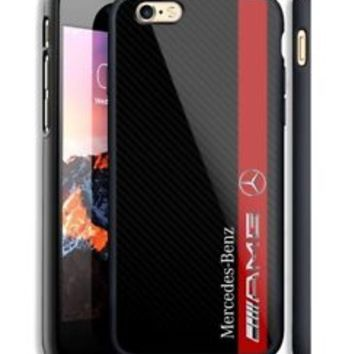 Mercedes Benz AMG Striped Fit Hard Case For iPhone 6 6s Plus 7 8 Plus X Cover +