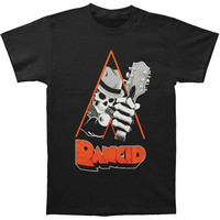 Rancid Men's  Clockwork Black T-shirt Black Rockabilia