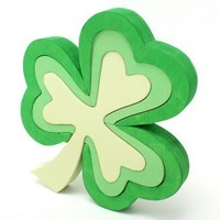 3D Green Shamrock Puzzle - Children's Decor