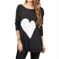 SALE-Gray/White Heart Tunic