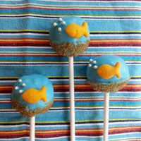 Goldfish Bowl Cake Pop