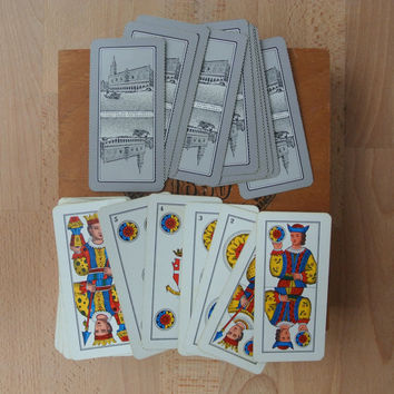 Vintage Pack of Dal Negro Fortune / Tarot Playing Cards Pack 40 Card Deck