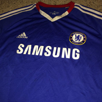 Sale!! Vintage Adidas Chelsea Fc soccer Jersey CFC England Football shirt Size XL Free US Shipping