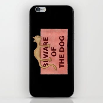 Beware of the dog iPhone & iPod Skin by Josep Mestres