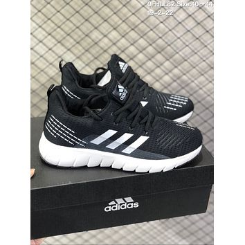 DCCK A593 Adidas Superstar II Mesh Brethable Running Shoes Black White