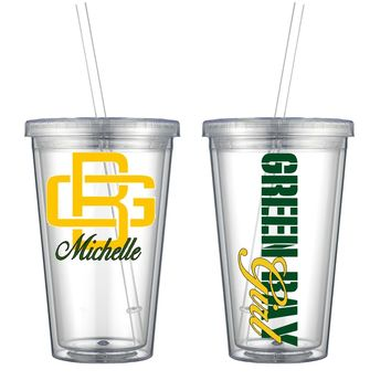 Green Bay Acrylic Cup - Free Shipping