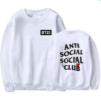 Unisex Casual Fashion Color Letter Logo Print Long Sleeve Hooded Sweater Sweatshirt Tops