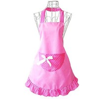 Hyzrz Lovely Cheap Funny Aprons Pink Girls Women Cupcake Shop Fashion Apron with Pocket