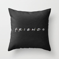 F.R.I.E.N.D.S Minimalist Poster Throw Pillow by Misery