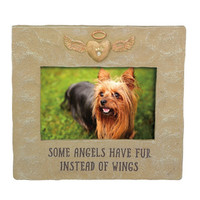 Some Angels Have Fur Instead of Wings Pet Memorial Photo Frame for 4x6 Photo