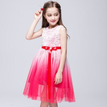 Girl Party Dress 2 3 4 5 6 7 8 9 10 11 Years Kids Clothes Summer Girls Costume Sleeveless Princess Dress Robe Fille