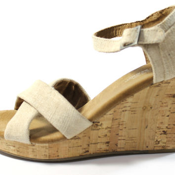 Toms Women's Wedges Sierra Natural Sandals Shoes
