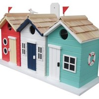 "17"" Brighton Beach Hut Birdhouse, Feeders, Houses & Bird Baths"