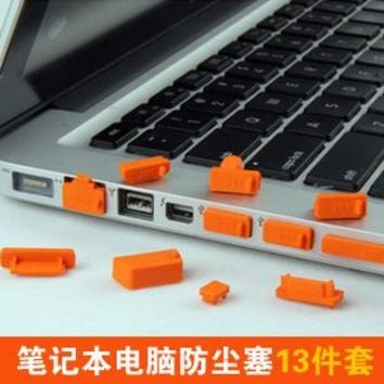 13pcs/set Colorful Silicone Anti Dust Plug Cover Stopper