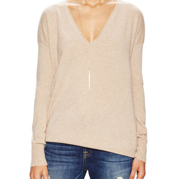 Barrow & Grove Women's Danielle Cashmere Boyfriend Sweater -
