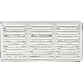 "Lomanco® C816-W C-Series Under Eave Cornice Vent, 8"" x 16"", White"