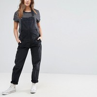 ASOS MATERNITY Denim Overall in Washed Black at asos.com