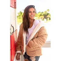 Ivory and Taupe Fuzzy Jacket