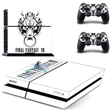 Final fantasy VII PS4 console decal skin sticker